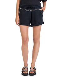 The Kooples - Studded Cotton Sweat Shorts - Lyst