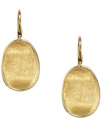 Marco Bicego - 18k Yellow Gold Lunaria Drop Earrings - Lyst