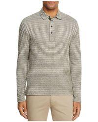 Billy Reid - Smith Striped Long Sleeve Polo Shirt - Lyst