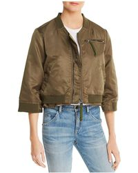 Doma Leather - Layered-look Bomber Jacket - Lyst