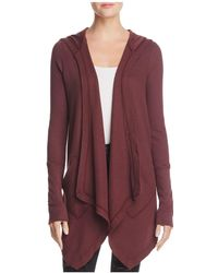 Splendid | Cardigan - Hooded Drapey Front Thermal | Lyst