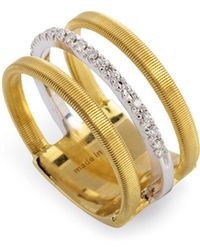 Marco Bicego - 18k Yellow & White Gold Goa Ring With Diamonds - Lyst