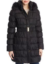 Via Spiga - Pillow Collar Ruched Puffer Coat - Lyst