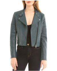 BAGATELLE.NYC - Quilted Leather Biker Jacket - Lyst
