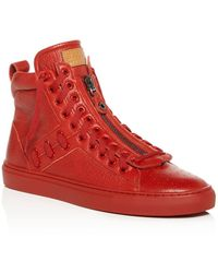 3b376f4fc55f Bally - Men s Hekem Patchwork Deerskin Leather High-top Sneakers - Lyst