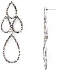 Aqua - Teardrop Drop Earrings - Lyst