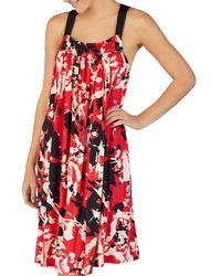 0fbc3d91a5d4aa Donna Karan - Printed Jersey Nightgown - Lyst