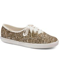 Keds - X Kate Spade New York Women's Glitter Lace Up Trainers - Lyst