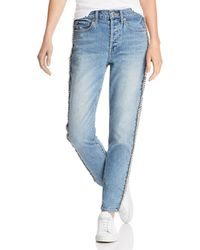 Pistola - Nico Mom High-rise Embellished Straight-leg Jeans In Duality - Lyst