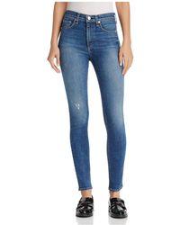Rag & Bone | High-rise Skinny Jeans In El | Lyst