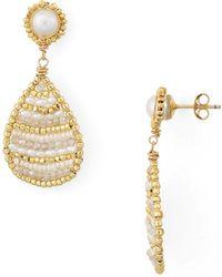 Dana Kellin - Bead & Organic Freshwater Pearl Drop Earrings - Lyst