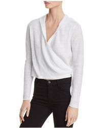 Eileen Fisher - Hooded Wrap Cardigan - Lyst
