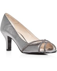 Caparros - Eliza Metallic Embellished Court Shoes - Lyst