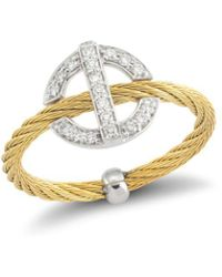Alor - Diamond Yellow Cable Ring - Lyst