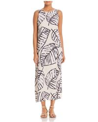 NIC+ZOE - Nic+zoe Etched Leaves Maxi Dress - Lyst