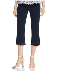 Lyssé - Crop Flare Denim Trousers - Lyst