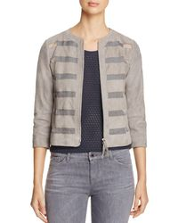 Armani - Sheer Inset Suede Jacket - Lyst