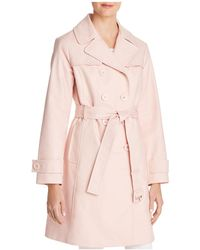 Kate Spade - Double-breasted Bow Back Trench Coat - Lyst