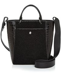 Elizabeth and James | Eloise Small Shearling & Embossed Leather Tote | Lyst