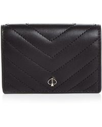 Kate Spade - Quilted Leather Flap Card Case - Lyst