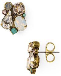 Sorrelli - Crystal Cluster Stud Earrings - Lyst