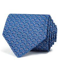 Ferragamo - Paper Clip Turtle Classic Tie - Lyst