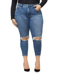 GOOD AMERICAN - Good Legs Crop Skinny Jeans In Blue261 - Lyst