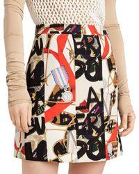 Burberry - Graffiti Mini Skirt By - Lyst