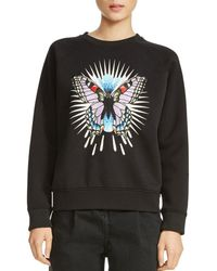 Maje - Tory Butterfly Embroidered Sweatshirt - Lyst