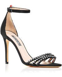 SJP by Sarah Jessica Parker - Women's Darcy Embellished Satin High Heel Sandals - Lyst