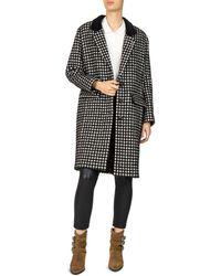 The Kooples - Tzar Checked Coat - Lyst
