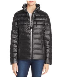 Via Spiga - Packable Ruffled Collar Down Coat - Lyst