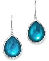 Ippolita - Sterling Silver Wonderland Mother-of-pearl & Clear Quartz Doublet Teardrop Earrings In Tide - Lyst