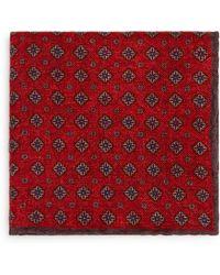 Bloomingdale's - Medallion Paisley Reversible Wool Pocket Square - Lyst