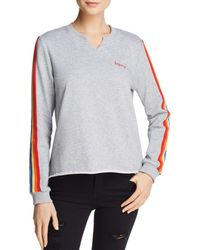 Honey Punch - Rainbow-trim Sweatshirt - Lyst