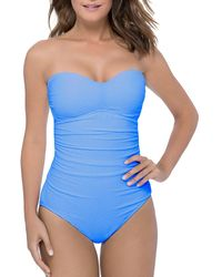 Gottex - Ribbons Bandeau One Piece Swimsuit - Lyst