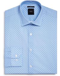 W.r.k. - Textured Ground Dot Slim Fit Dress Shirt - Lyst