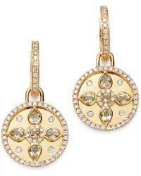 Kiki McDonough - 18k Yellow Gold Jemima Lemon Quartz & Diamond Drop Earrings - Lyst