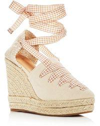 Castaner - Women's Lula Ankle Tie Platform Wedge Espadrille Sandals - Lyst