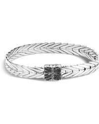 John Hardy - Sterling Silver Modern Chain Bracelet With Black Spinel - Lyst