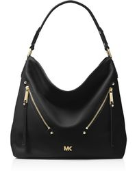 MICHAEL Michael Kors - Evie Large Leather Hobo - Lyst