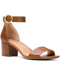 4cb253ed3 MICHAEL Michael Kors Lena Flex Mid Leather Ankle Strap Sandals in ...