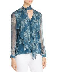 Elie Tahari - Jurnee Floral Silk Blouse - Lyst