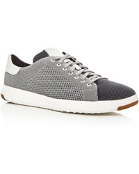 Cole Haan - Grandpro Tennis Stitch Lite Knit Lace Up Sneakers - Lyst