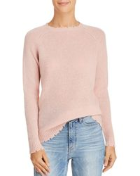 Minnie Rose - Distressed Cashmere Jumper - Lyst