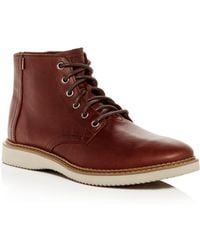 TOMS - Men's Porter Water-resistant Leather Boots - Lyst