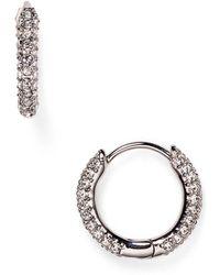 Nadri - Swarovski Crystal Hoop Earrings - Lyst