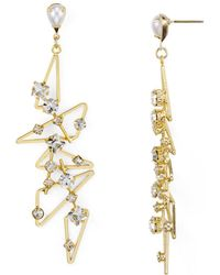 R.j. Graziano - Studded Geometric Drop Earrings - Lyst
