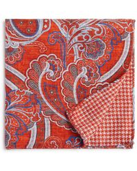 Bloomingdale's - Paisley/houndstooth Pocket Square - Lyst