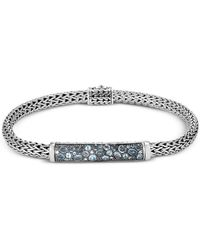 John Hardy - Classic Chain Silver, London Blue Topaz, Swiss Blue Topaz & Blue Zircon Extra-small Bracelet - Lyst